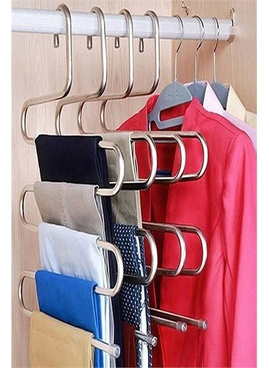 Kitchen Love 2 Adet 35X36Cm Metal Pantolon Askısı Renkli